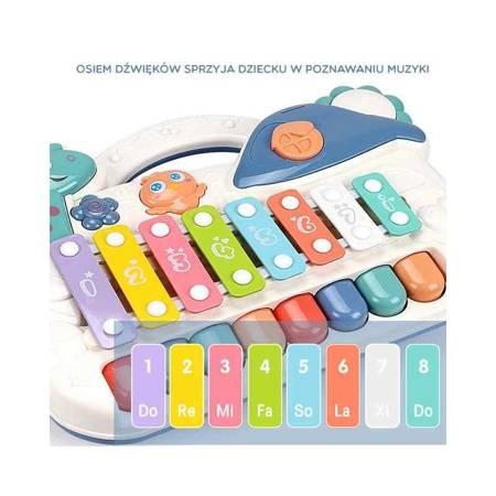 Cymbałki Edukacyjne Pianinko Muzyczne LED 2w1 WOOPIE