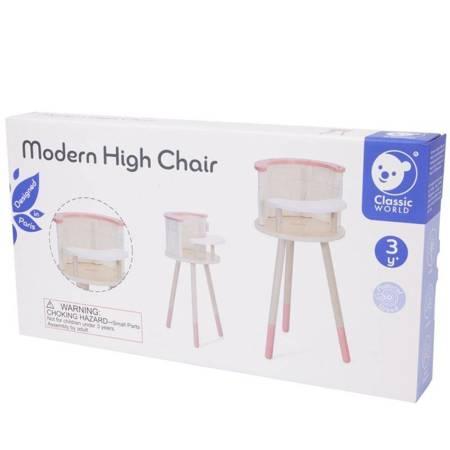 Drewniane Krzesełko do Karmienia dla Lalek Classic World