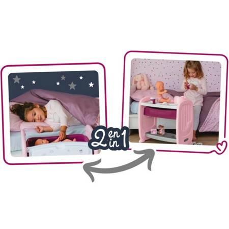 Łóżeczko dla lalki  2w1  Przewijak + Lalka Baby Nurse Smoby