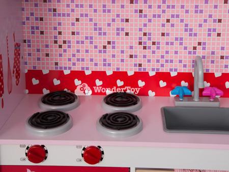 Wielka Drewniana Nowoczesna Kuchnia Dla Dzieci Sweet Cherry WTK2001