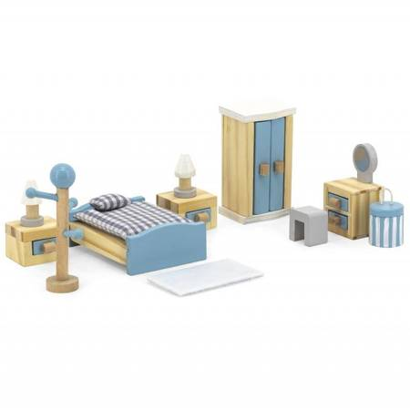 Zestaw Mebelki do Domku dla Lalek Sypialnia Viga Toys