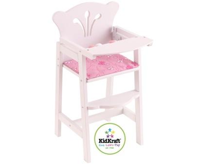 Białe Krzesełko do karmienia lalek Lil Doll Kidkraft 61101