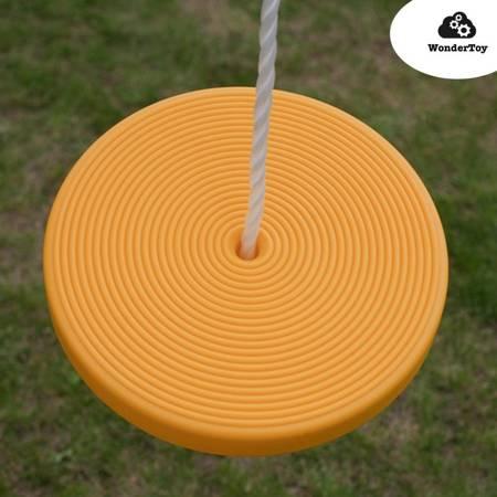 Disc Seat - Siedzisko, siedzenie, siodełko do huśtawki - typu dysk żółte