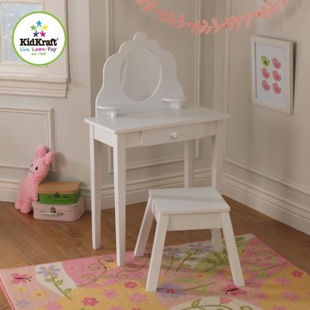 Drewniana Biała Toaletka z siedzeniem  Kidkraft 13009