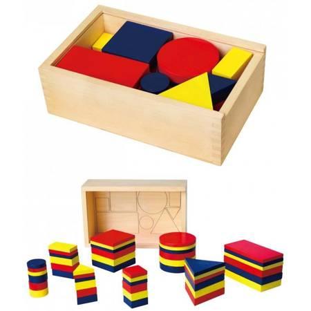 Drewniane Klocki Figury Geometryczne Viga Toys