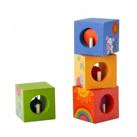 Drewniane Klocki Sensoryczne Układanka Edukacyjna Classic World
