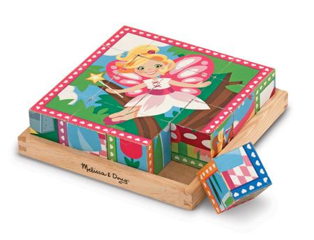 Drewniane Sześcienne Puzzle Wróżki i Księżniczki  Melissa and Doug 19040