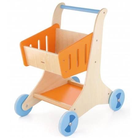 Drewniany Wózek Sklepowy na zakupy Viga Toys