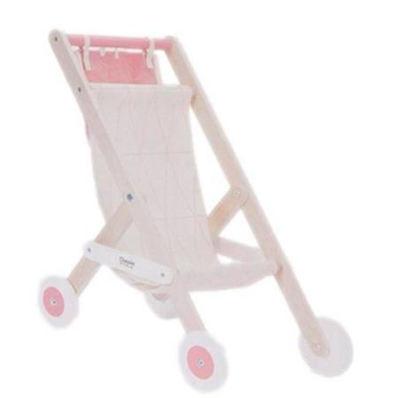 Drewniany Wózek Spacerowka  Dla Lalek Classic Toys