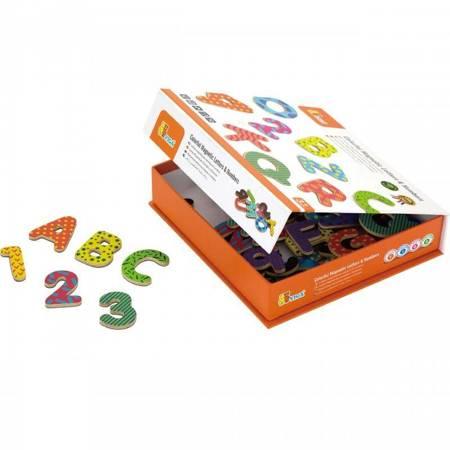 Drewniany Zestaw Magnetyczne Literki i Cyferki Viga Toys