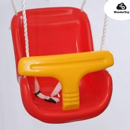 Duże Siedzisko z oparciem, siedzenie, siodełko do huśtawki - baby seat z oparciem czerwone