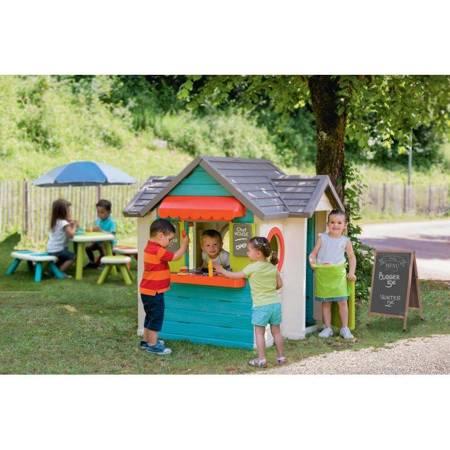 Duży Domek Ogrodowy dla Dzieci Kuchnia Szefa Restauracja + Barek