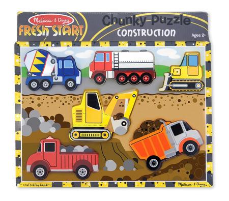 Grube Puzzle Jumbo Pojazdy z  Budowy  Melissa and Doug 13726