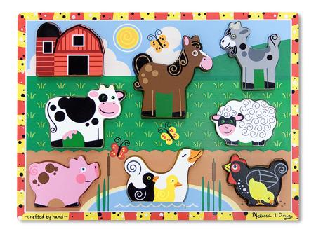 Grube Puzzle Jumbo Zwierzęta z Farmy Melissa and Doug 13723