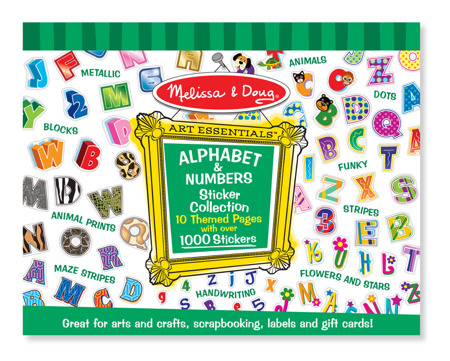 Klasyczne Naklejki Alfabet i Cyferki Melissa dla Doug 14191