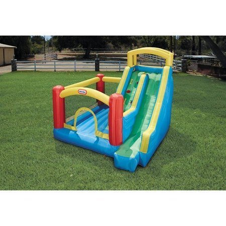 Little Tikes  Dmuchany Plac Zabaw Giant Slide ze Wspinaczką i Zjeżdżalnią