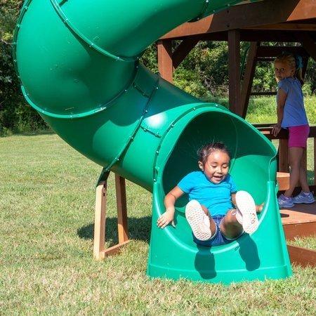 Mega Plac Zabaw Skyfort Tube Slide Backyard Discovery