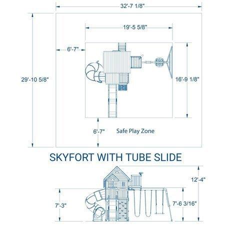 Mega Plac Zabaw Skyfort z Turbo Zjeżdżalnią Bocianie Gniazdo i Huśtawki Backyard Discovery
