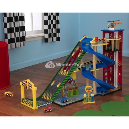 Mega Rampa, tor wyścigowy i garaż Kidkraft 63267