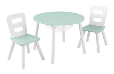 Okrągły Stolik i 2 Krzesła Miętowy Kidkraft 20021