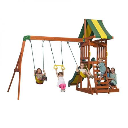 Plac Zabaw Weston Caffe - Huśtawki, zjeżdżalnia, ławka, wieża  Backyard Discovery
