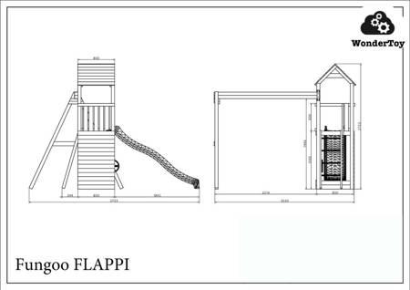 Plac zabaw Flappi Wood Natural FunGoo ®
