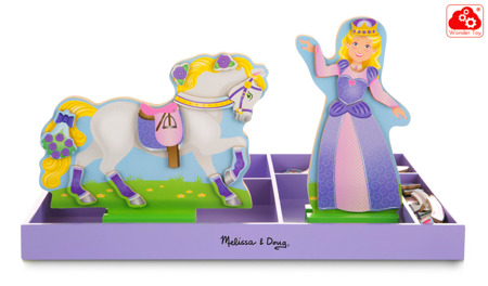 Puzzle ubieranka magnetyczna Księżniczka Lila i Konik Melissa and Doug 19281