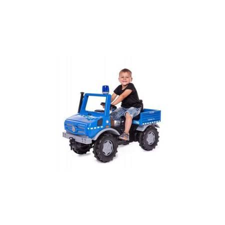 Rolly Toys Ciężarówka Samochód na pedały Unimog Merc-Benz Policja