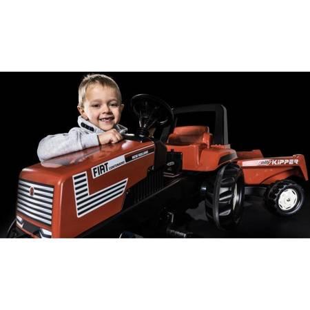 Rolly Toys Traktor Farmtrac Fiat Centenario na Pedały z Przyczepką