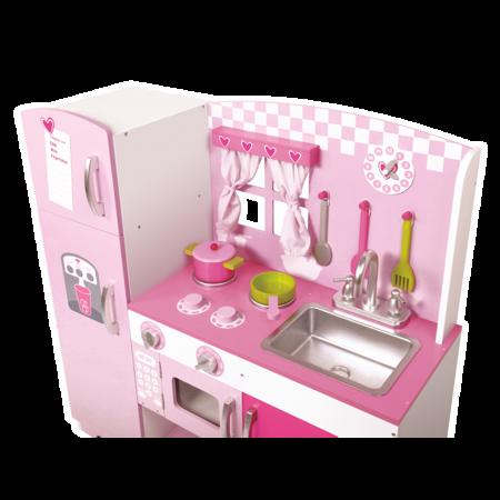Różowa Drewniana Kuchnia Classic World