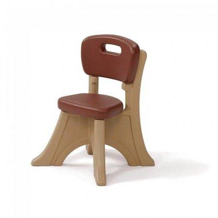 Step2  Brązowe Krzesełko z oparciem