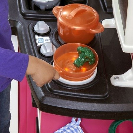Stylowa Kuchnia Smakosza Różowa  Step2 784200 Światło Dźwięk i akcesoria