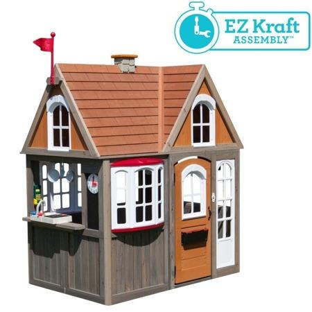 Stylowy Drewniany Domek Ogrodowy Greystone Cottage Kidkraft 0093