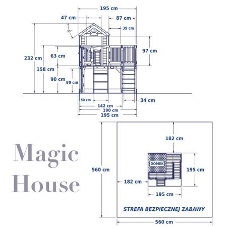 Super  Cedrowy Plac Zabaw Magic House Backyard Discovery