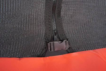 Trampolina Ogrodowa 244 cm / 8 FT Maxy Comfort Zielona Z Wewnętrzną Siatką