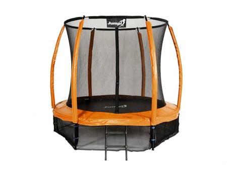 Trampolina Ogrodowa 252cm/8ft pomarańczowa Maxy Comfort Plus Z Wewnętrzną siatką