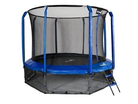 Trampolina Ogrodowa 374cm 12FT Niebieska Maxy Comfort Z Wewnętrzną Siatką