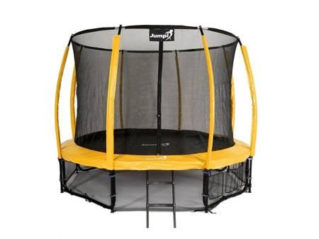 Trampolina Ogrodowa 374cm/12ft Żółty Maxy Comfort PLUS Z Wewnętrzną siatką
