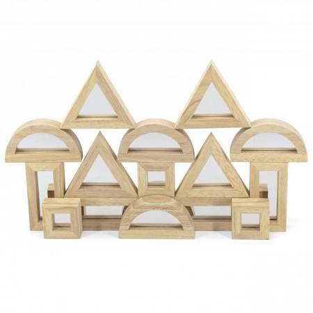 VIGA Drewniane Klocki Lustrzane układanka 16 elementów