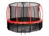Trampolina Ogrodowa 435cm/14ft czerwona Maxy Comfort Plus Z Wewnętrzną siatką